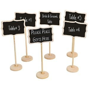 Stationary Station Mini Retangle Chalkboard Blackboard Stand Wedding Party Table Numbers Place Card Favor (Pack of 12)mini Chalkboard Stand Place Holder Wedding Event Party Decorations