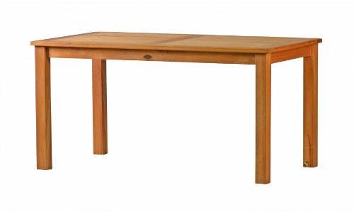 Kai Wiechmann®, eleganter Gartentisch aus der Premium-Serie Brighton gefertigt aus Teakholz 120x80 cm/ Teak-Tisch/ Holztisch/ Gartenmöbel/ massiv/ rechteckig/ Esstisch/ Premium-Qualität