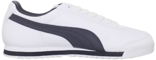 Puma Mens Roma Sneaker Di Base Bianco / New Navy