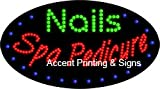 Nails Spa Pedicure Flashing & Animated LED Sign (High Impact, Energy Efficient)