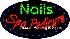 Nails Spa Pedicure Flashing & Animated LED Sign (High Impact, Energy Efficient)