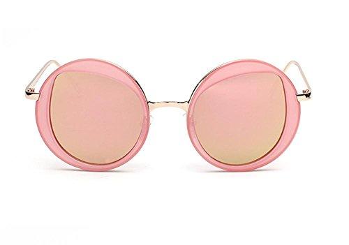 Soleil CMCL Reflective Ultra des de Lunettes pink Trendy de Mode Circular Dames Glasses cocons Voyageur Mirror Light xCqCrSwT