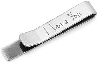 Ox & Bull Contemporary I Love You Hidden Message Tie Bar