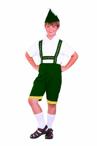 RG Costumes Bavarian Boy Costume, Green/Yellow/White, Large
