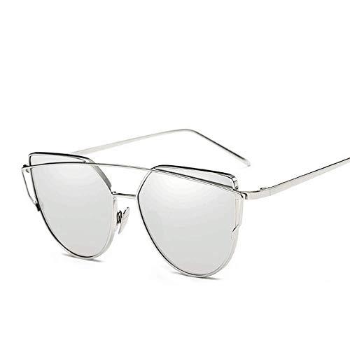 Gafas Coloridas Mismas Sol Gafas Gold De De Sol White De Tea Gafas Ojos TLMY Sol Silver Gato Color de 4nv0xP
