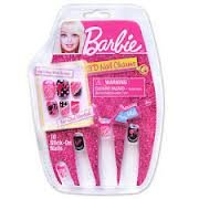 Barbie 3D Charms Stick On Nails