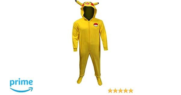 83ae4b985341 Underboss Men s Pokemon Pikachu One Piece Union Suit Pajama at Amazon Men s  Clothing store