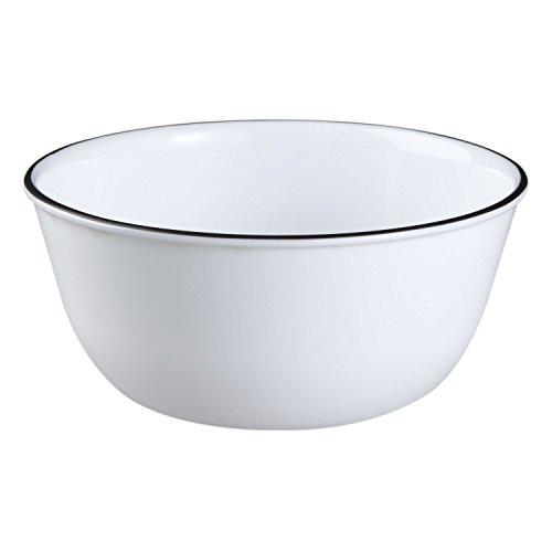 Rim Classic (Corelle Livingware 28-Ounce Super Soup/Cereal Bowl, Classic Café Black Rim (3 Bowls))