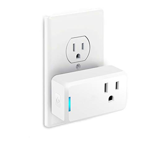 WiFi Smart plug, MECO Mini Wireless Outlet Compatible with Alexa, Google Home, Remote Control Plugs with Timer Function, No Hub Required, Only Supports 2.4GHz Network, White(1 Pack)