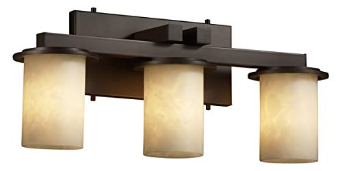 Justice Design Group Clouds 3-Light Bath Bar - Dark Bronze Finish with Clouds Resin Shade