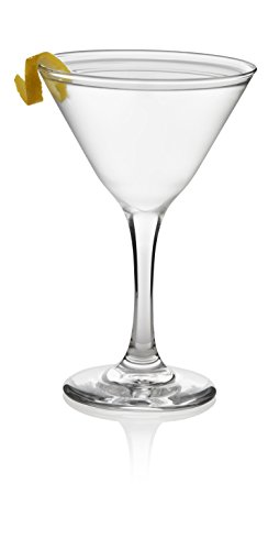 Libbey Martini Glass Party Set, 12-7.5 ounce Martini Glasses, 6.4 inch height, Lead-Free