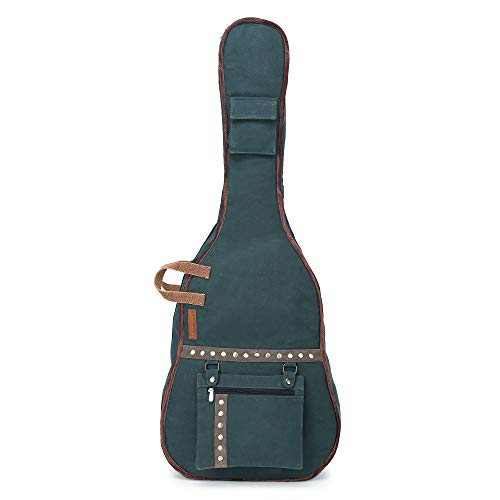 The-House-of-Tara-Combat-Blue-Canvas-Fabric-Acoustic-Guitar-Bag-Cover-for-Men-and-Women