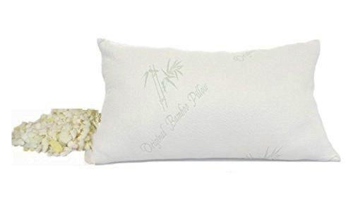 Adjustable Pillow - Original Bamboo NaturalPEDIC Memory Foam - Queen Size - Adaptable & Customizable - Premium Bamboo Pillowcase with Zipper