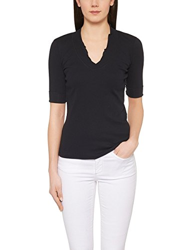 Marc Cain Essentials, Camiseta para Mujer Blau (midnight blue 395)