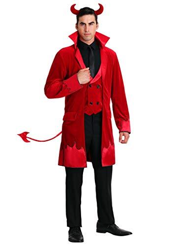 Men's Debonair Devil Costume Medium Red