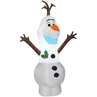 Gemmy 4FT Tall Christmas Olaf Inflatable Indoor/Outdoor Holiday Decoration (Christmas Frozen Outdoor Decorations)