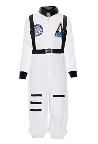 (ReliBeauty Boys Kids Children Astronaut Role Play Costume, White,)