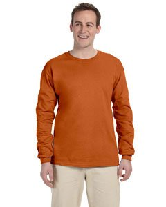 Texas Orange T-shirt - Gildan G2400 100% Cotton L-Sleeve Tee - Texas Orange - L