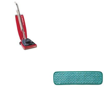 KITEUKSC684FRCPQ412GRE - Value Kit - Rubbermaid Microfiber Dust Pad (RCPQ412GRE) and Commercial Vacuum Cleaner, 16quot; (EUKSC684F)