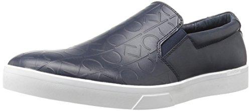 6569ce22a26 Galleon - Calvin Klein Men s Ivo Brushed Ck Emboss Slip-on Loafer ...