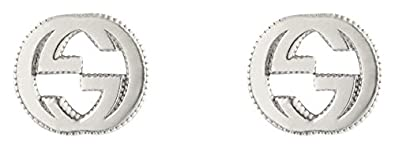 4e86bb81e9a Amazon.com  Gucci Women s Interlocking G Stud Earrings Silver ...