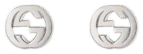 Gucci Women's Interlocking G Stud Earrings Silver Earring