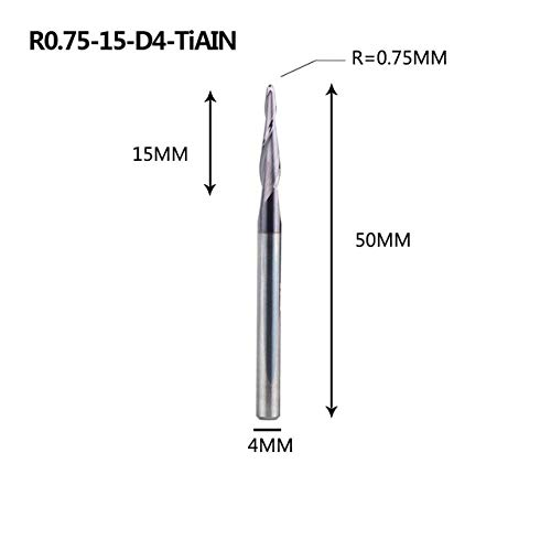 1PCS R2.0mm 4mm Shank Ball Nose End Mill Milling Cutter CNC Router Bits NEW