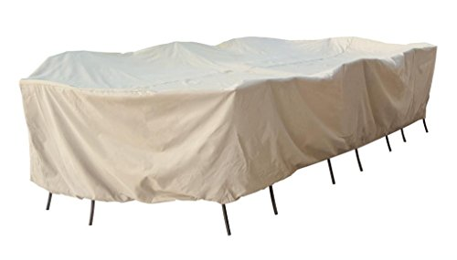 Treasure Garden Protective Patio Furniture Cover CP697 Fits all 2XLOval/Rectangle Table and Chairs - NO umbrella hole by Treasure Garden