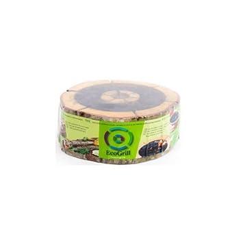 Barbacoa de carbón vegetal de madera 100% ecológica portatil desechable con Certificado FSC (M): Amazon.es: Jardín