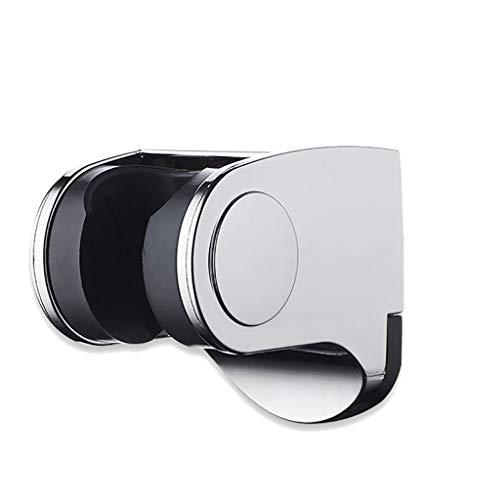 (IslandseShower Head Handset Holder Chrome Bathroom Wall Mount Adjustable Bracket Silver)