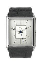 Calvin Klein ck Angular 3-Hand Silver Dial Men's Watch #K9621120
