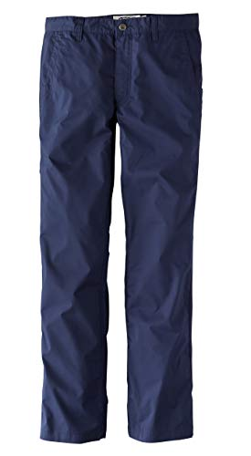 Mountain Khakis Mens Stretch Poplin Pant Slim Fit: Outdoor Hiking Casual Pants, Navy, 38W 30L
