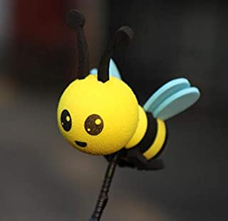 YLLY Happy Bee Car Antenne Topper Honey Bumblebee Balle aérienne - Balle d'antenne