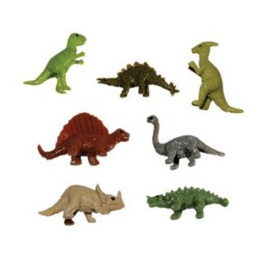Dinosaur Figures - 20 Tiny Stretchy Mini Dinosaurs