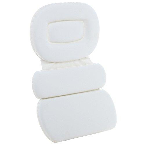 Luxueuse mousse rembourrée grand blanc Spa bain oreiller / Hot Tub tête & dos coussin