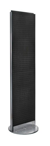 New Black Freemoving Pegboard Floor Stand 16'' W X 60'' H on Revolving Base by Pegboard (Image #6)