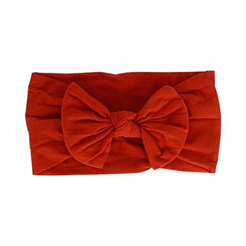 Kulywon Fashion Baby Kids Headwrap Bow Knot Elastic Hairband Headband Accessories Hair Band for Women