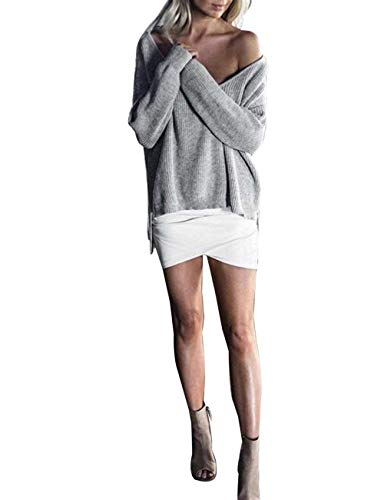 Elegante Autunno Donna Monocromo Shirts Camicetta Neck Baggy V Lunghe Grazioso A Primaverile Bluse Tops Moda Camicia Casual Maglia Maniche Gr gC5xqrwCt