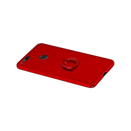 Nubia Z7 mini Funda,color sólido,estilo sencillo,Alta Calidad Ultra Slim Anti-Rasguño y Resistente Huellas Dactilares Totalmente Protectora Caso de Plástico Duro Cover Case+stand holder(RG15) D