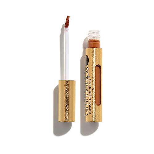 GrandeLIPS Plumping Liquid Lipstick, Semi-Matte, Butter Rum