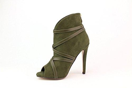 Bluebberry Chaussures à talons Victoria Khaki T41