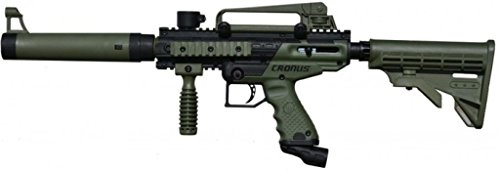 Tippmann Cronus Tactical Semi-Automatic 68 Caliber Olive Paintball Marker (Heavy Machine Gun Paintball)