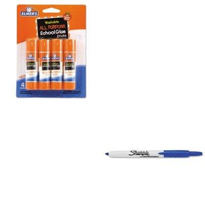 KITEPIE542SAN32703 - Value Kit - Sharpie Retractable Permanent Marker (SAN32703) and Elmer's Washable All Purpose School Glue Sticks (EPIE542) by Sharpie