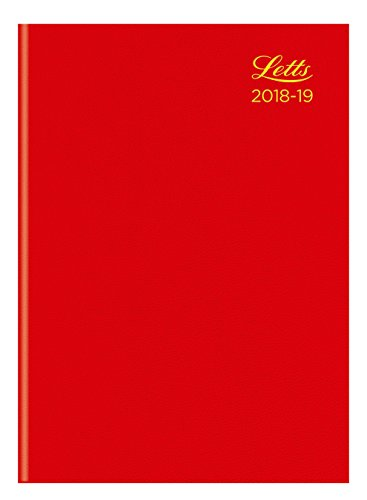 13 Standard Diary - Letts 18-TA3XRD A5 Standard Academic 18-19 Week To View 13 Month Diary - Red