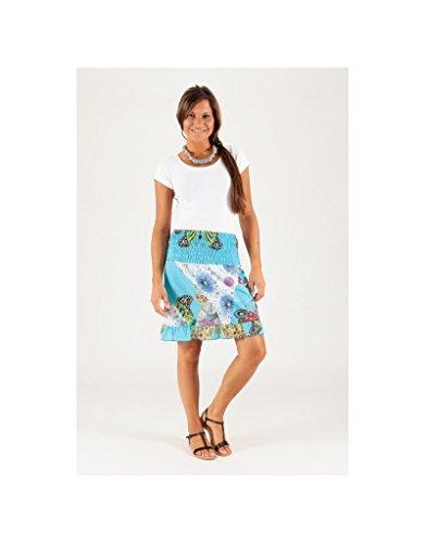 Modeincoton - Falda corta de algodón Modeincoton JL002 Multicolor