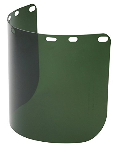 Green 8 x 15.5 x .04 North A8154G Honeywell Face Shield Replacement Visors Molded Polycarbonate Face Shield