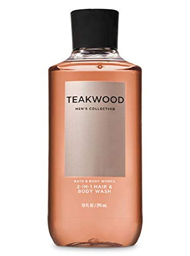 Bath & Body Works Teakwood Men's 2-IN-1 Hair & Body Wash 10 Oz.