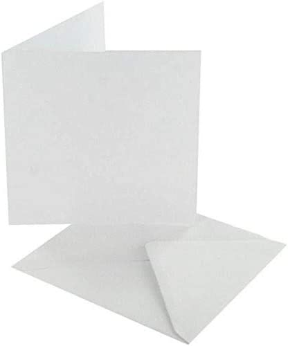 White Craft UK 50 Cards and Envelopes 5 x 5-Inch,382 243