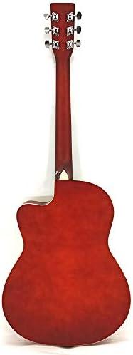 ギター 学生フォークアコースティックギターマット40インチの明るい全Tochi初心者ギター入門します プレーヤーに使用できます (Color : Natural, Size : 40 inches)