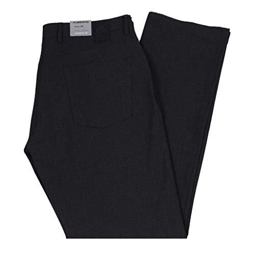 (Alberto Stone Ceramica Modern Fit 5-Pocket Pants Black )